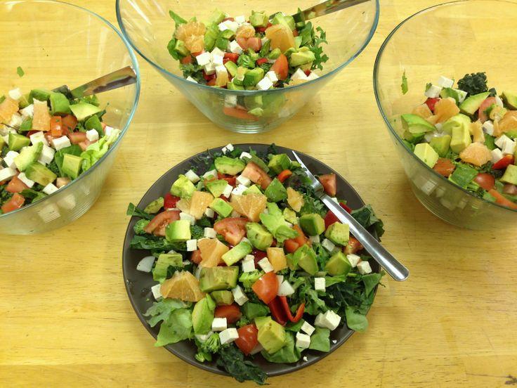 ... Kale, lettuce, broccoli, grapefruit, tofu, avocado, bell pepper