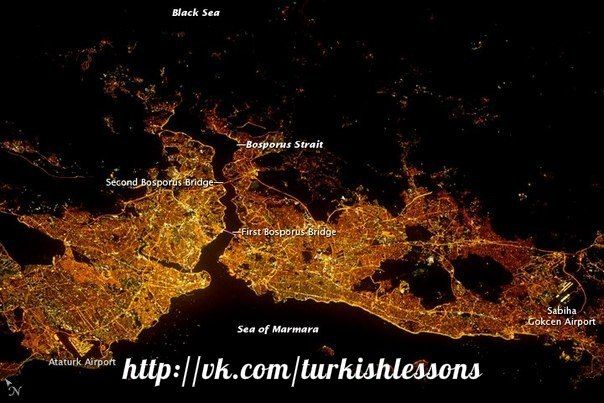 ночные огни Стамбула Istanbul