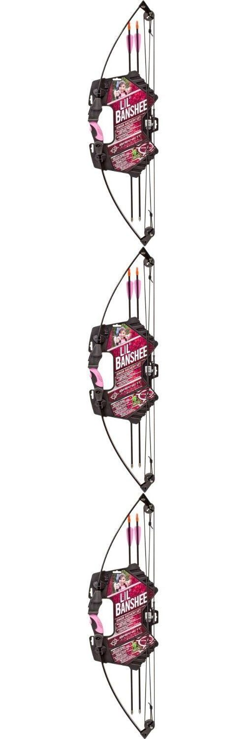Archery Sets and Kits 161751: Compound Youth Girls Archery Set Kids Beginner Training Bow Pink + 2 Arrows 18Lb BUY IT NOW ONLY: $49.42