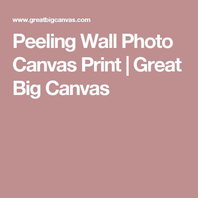 Peeling Wall Photo Canvas Print | Great Big Canvas