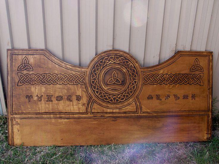 celtic bed headboard