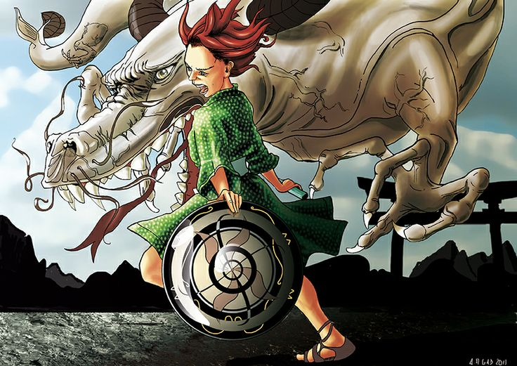 little #warrior with #dragon & #shield