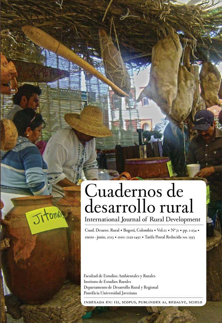 Vol 10, No 71 (2013): Cuadernos de Desarrollo Rural
