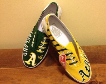 Oakland Athletics painted shoes