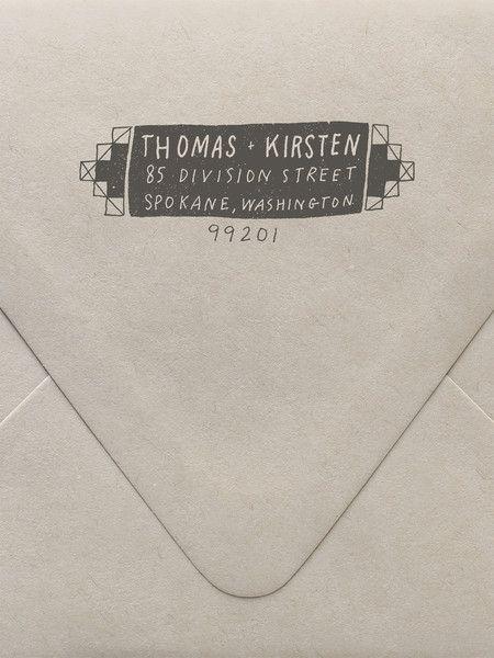 Geometric Custom Stamp
