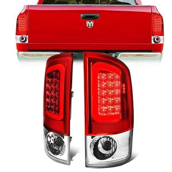 07 09 Dodge Ram 1500 2500 3500 Led C Bar Rear Brake Tail Lights Red Tail Light Ram 1500 Bar Led