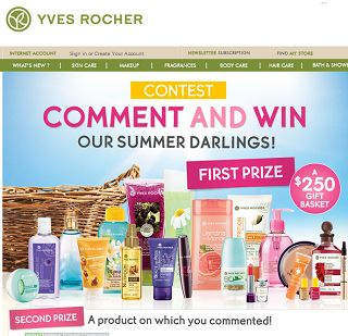 Review to win a beauty routine from Yves Rocher.