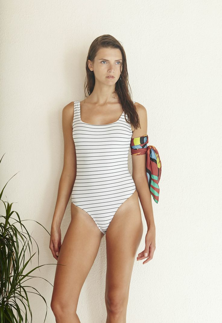 Ideal One Piece in Breton Blanc  http://www.bowerswimwear.com/collections/spring-2016-francois/products/ideal-one-piece-breton-blanc