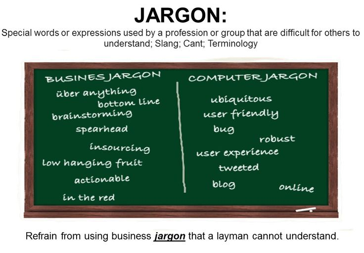 argon: Special words or expressions used by a profession or group that are difficult for others to understand; technical language; Specialized language; Patter; Patois Antonyms: Silence; Sense; Quiet It is difficult to compare the content management products available because of the widespread use of jargon, buzzwords, and marketing babble.