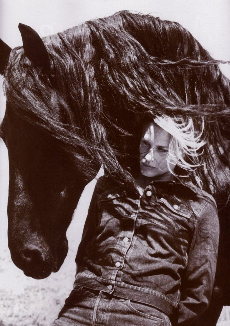 I have searched for this picture for years.  I cut it out of a magazine and still have it packed away. I always wanted one like it.  Daryl Hannah and Jeremiah, the horse she rescued.