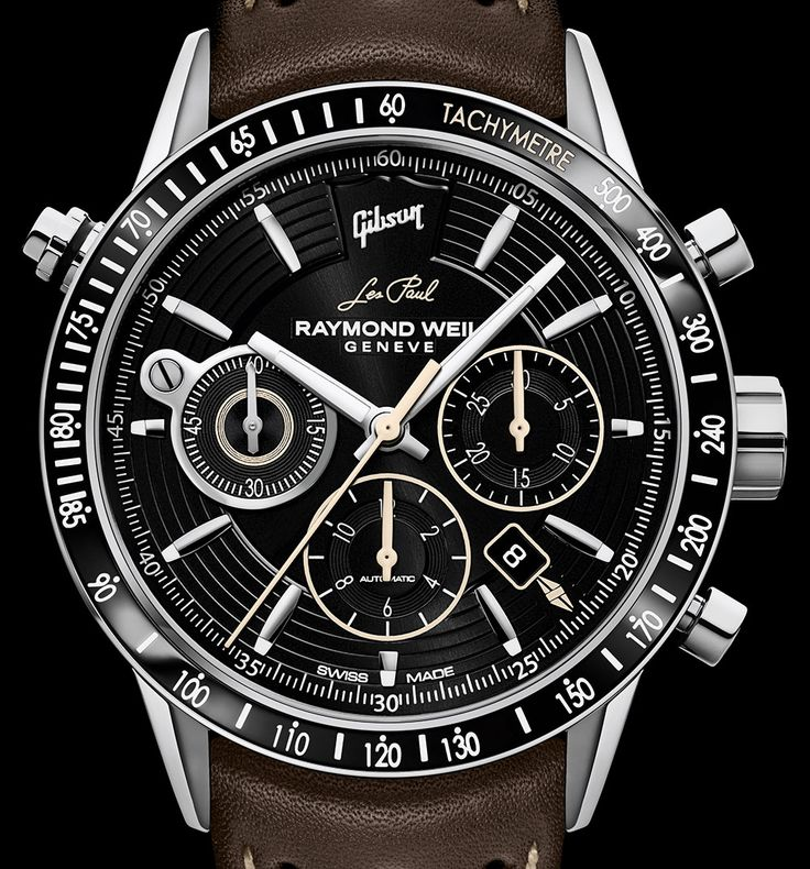 new release from raymond weil freelancer chronograph gibson les paul paying tribute to the downright iconic guitar and the most soughtafter collection