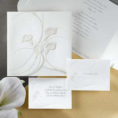 Floral Wedding Invitation - Ultimate Calla Lilies ...