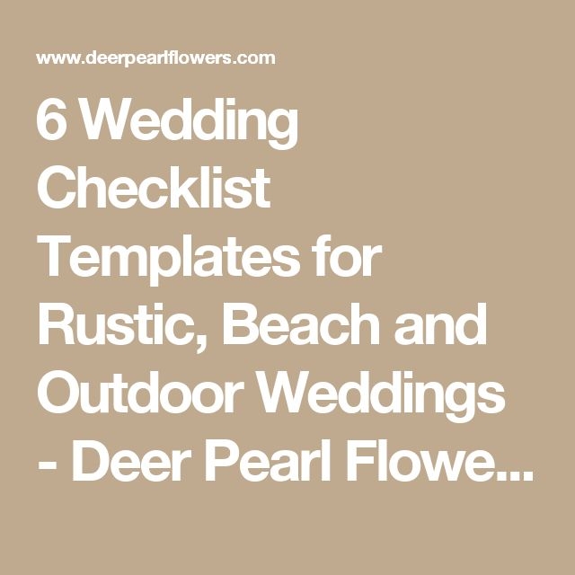The 25+ Best Wedding Checklist Template Ideas On Pinterest