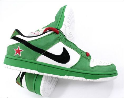 The Nike SB Dunk Low Heineken is one of the most sought after and prized  sneakers in the history of sneaker collecting.