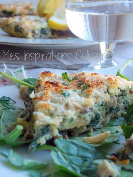 Omelette espagnole aux épinards {Tortilla}