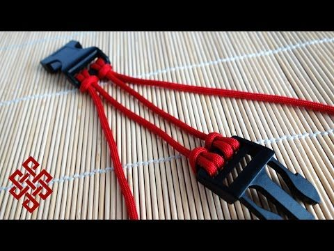 Two Strand Double Cow's Hitch Paracord Buckle Core Tutorial - YouTube