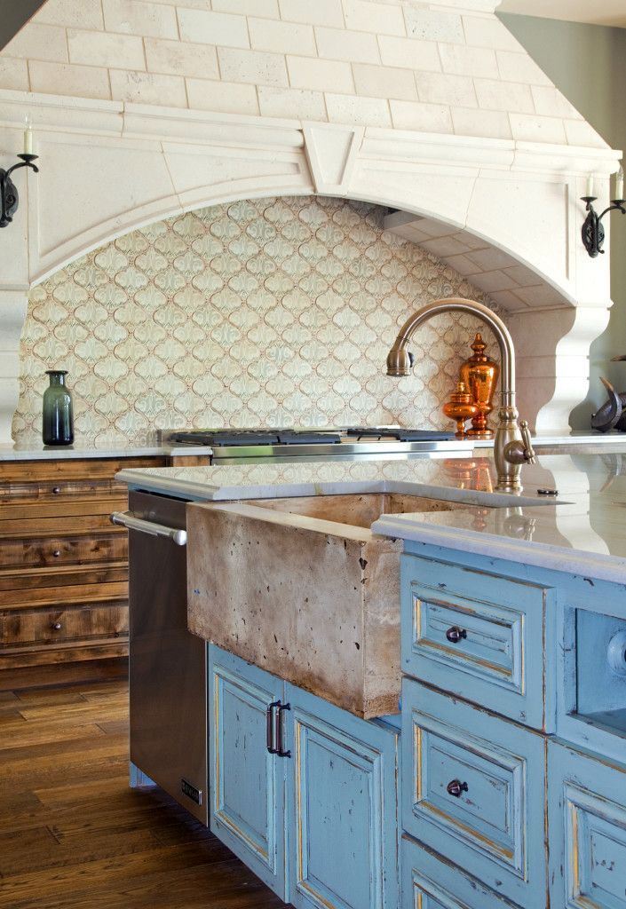 Kitchen With Maghreb 20 Backsplash By Tabarka Studio