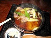 そばがき、鴨汁添え(Soba dumpling with duck soup)