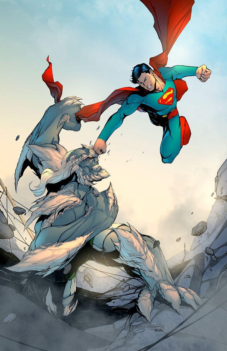 #Superman vs #Doomsday Pencils and ink: Salvador Velazquez Color: Edgar Wolv