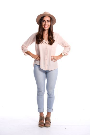 Grace Chiffon Top ~ Blush