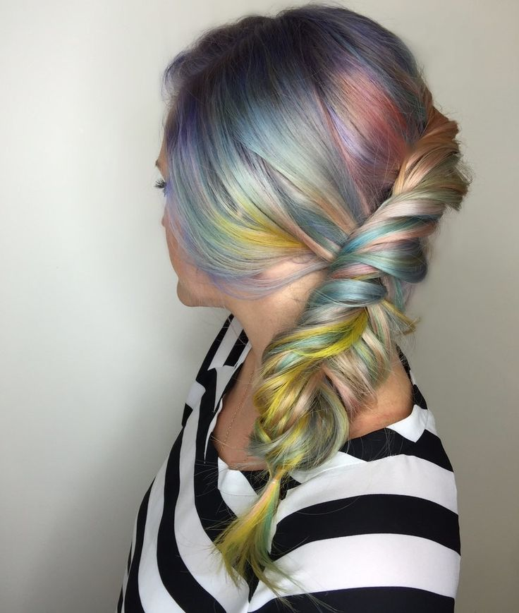 Hair Beauty Co-op   Trend: Rainbow hair - Macaron Hair Is the Sweetest Way to Get In on the Rainbow Trend
