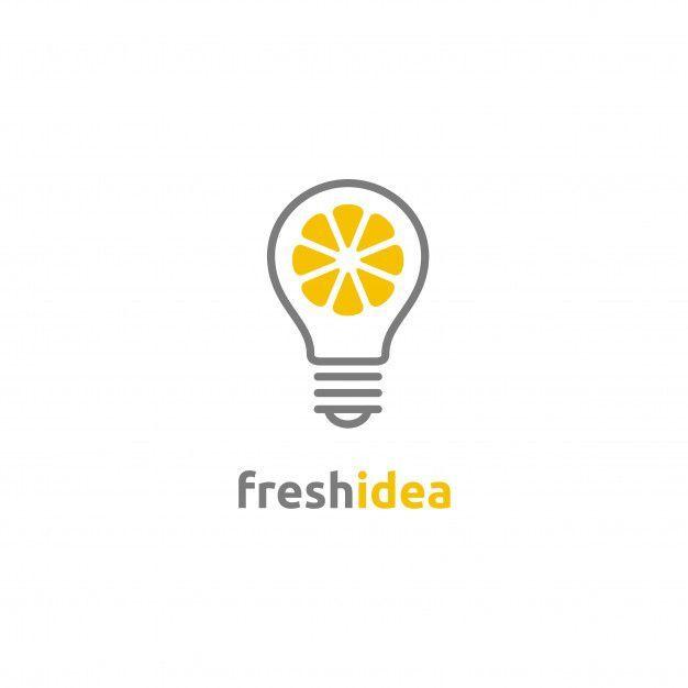 Logo Der Frischen Idee Der Gluhlampe Und Der Zitronenscheibe Premium Vector Freepik Vecto Zitronenscheibe Gluhlampe Idee