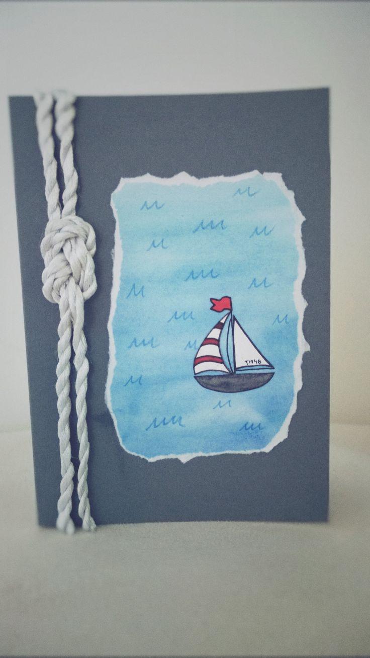 Onnittelukortti/ meri/ purjehdus/ solmu/ card/ nautical/ sea/ knot