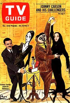 Vintage TV Guide Covers | Addams Family: TV Guide cover for October 30, 1965 - Sitcoms Online ...