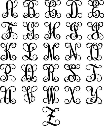 Wrought Iron Inspired Wall Hanging Decor with Monogram Initial ...