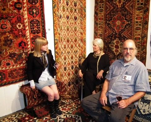 The International Conference on Oriental Carpets in Stockholm opened 16 June 2011 and after the opening reception it was time for the delegates to visit the Dealers Fair.