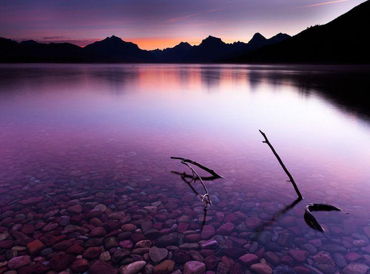 Purple Dawn - Апгар, с чем я год, Glacier National Park, Lake McDonald, сиреневый, Монтана, Morgend�закат, Национальный парк, Северной Америке, North-America, Pink, purple, озера, восход солнца, USA, фиолетовый, Vormorgend рассвет, Западный-ледник,