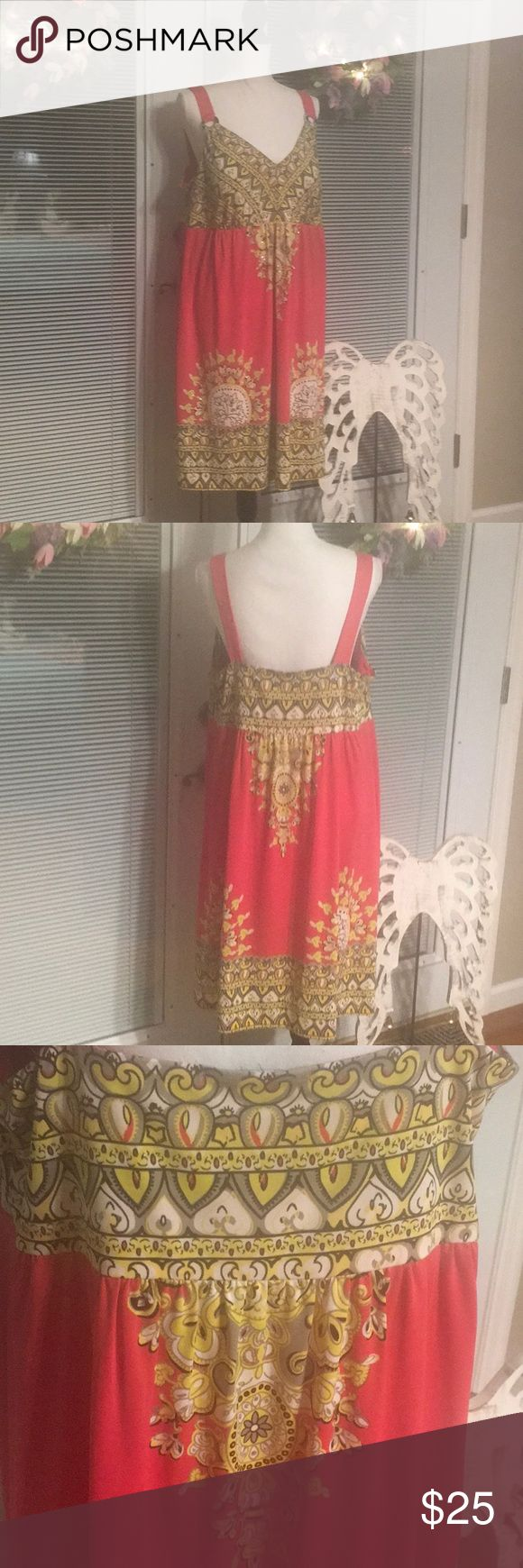INC Dress 👗The color is more of a peach orange. 2X INC Dress INC International Concepts Dresses Midi
