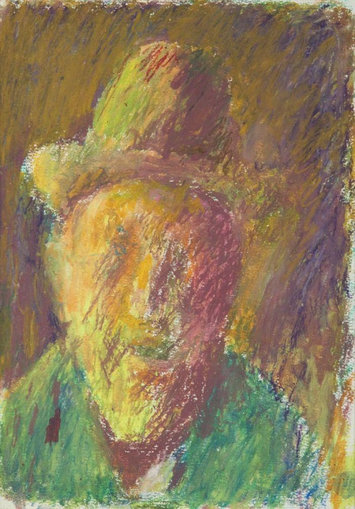 Jerzy Panek - Autoportet w kapeluszu