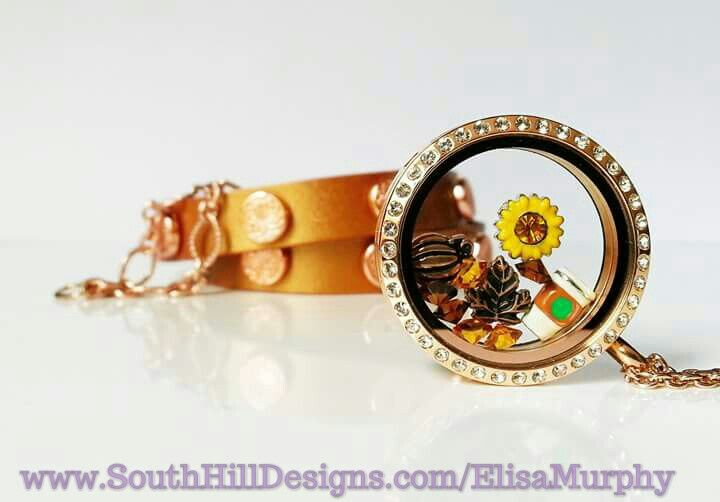 Thoughts of fall. customizable #lockets #trendy #jewellery  www.southhilldesigns.com/ElisaMurphy