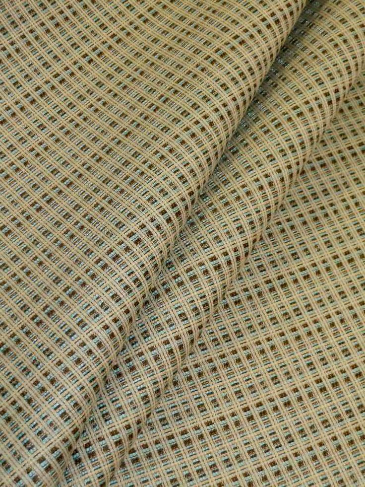 Attractive Pattern Bradford Color Multi Commercial Contract Basketweave Textured  Upholstery Fabric, Cross Stitched Sky Blue, Dark Olive, Pale Yellow On  Off White, For ...