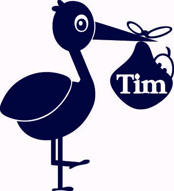 Geboortesticker type Tim