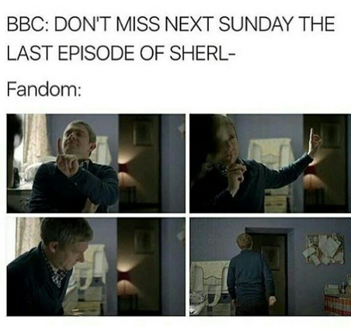 the Sherlock fandom's reaction to the last episode of Series 4