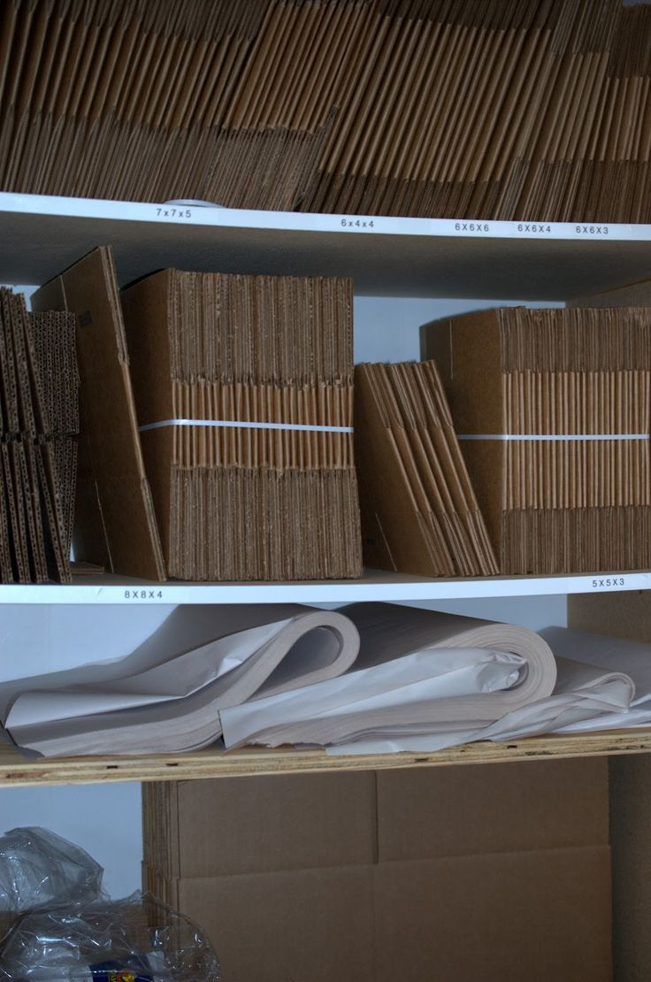 Organize Shipping Supplies boxes shelving Craft RoomOffice Pinterest Supplies