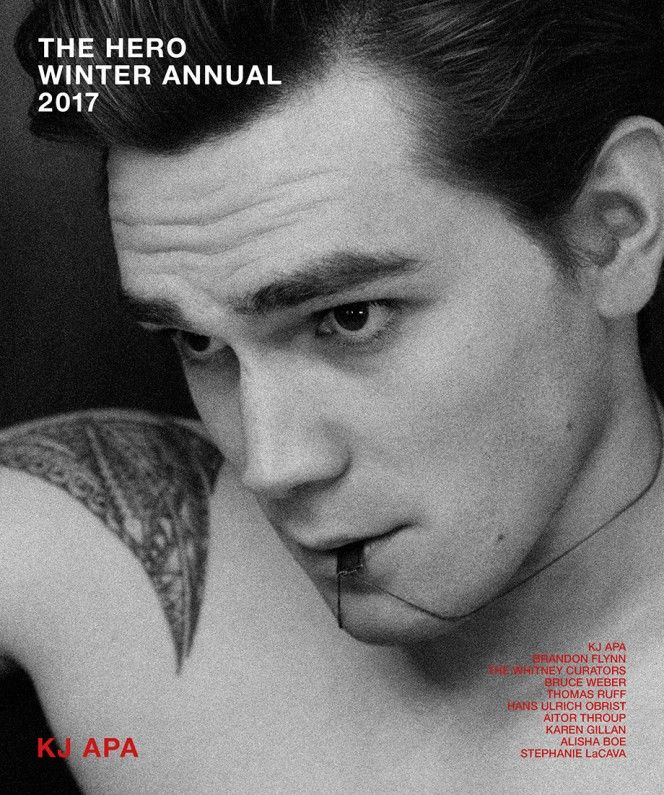 KJ Apa on the cover of The HERO Winter Annual 2017