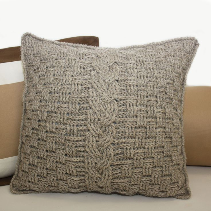 knot•sew•cute design shop: new crochet pattern - aran accent pillow.