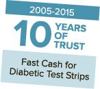 Get TOP DOLLAR cash paid in under 2 minutes for diabetic test strips - Sell diabetic test strips, lancets and supplies for cash.
