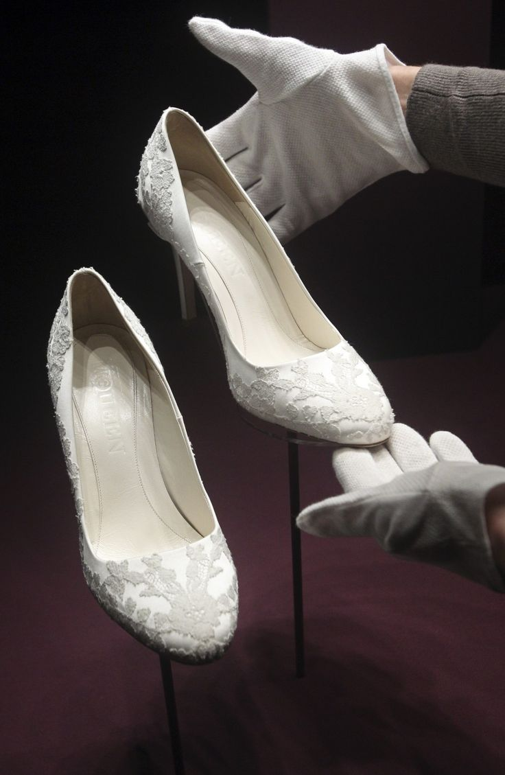 Shoes that went with Kate's wedding dress.