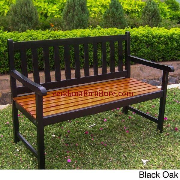Bangku Taman Jati Minimalis Lurus memiliki tampilan cantik terbuat dari kayu jati/mahoni, bangku yang menemani anda bersantai diluar ruangan.
