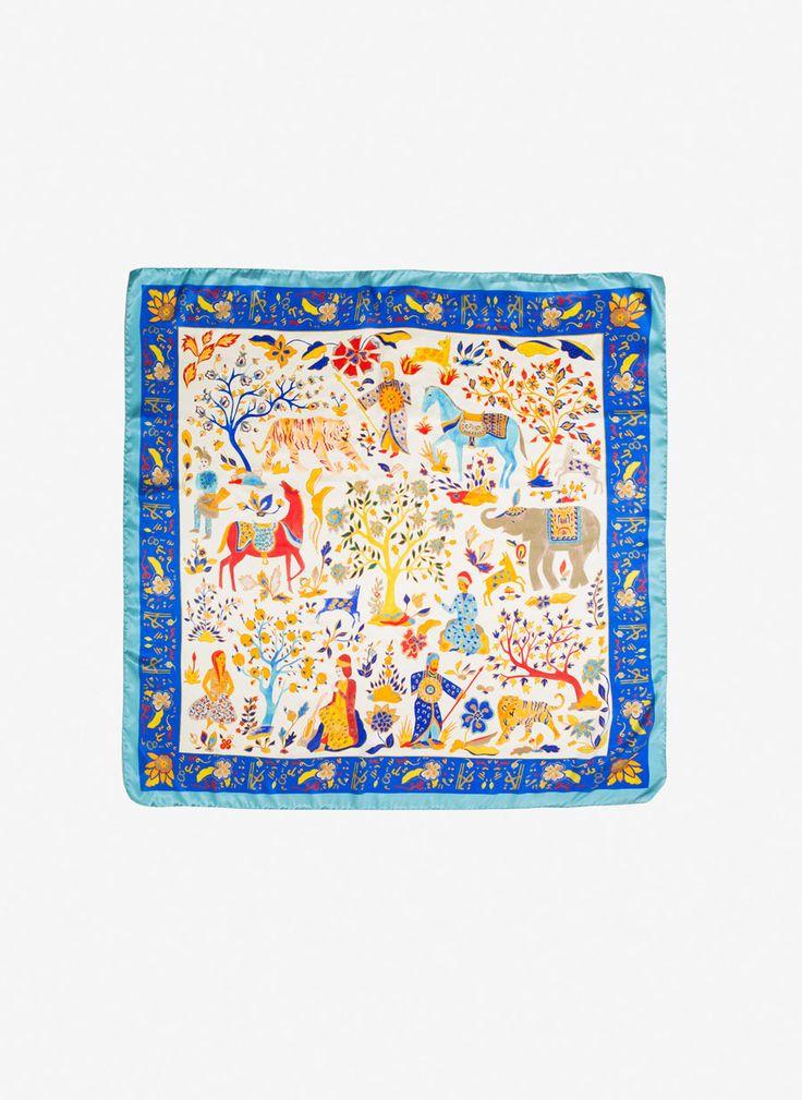 Pañuelo seda animales - Foulards - Complementos - Uterqüe España