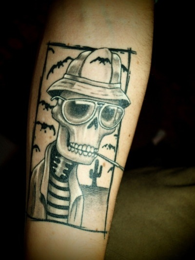 Hunter S. Thompson... been looking for tattoo ideas ...