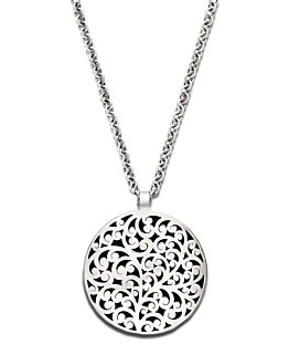 Have it! Love it. A favorite jewelry designer : Lois Hill sterling silver scroll pendant