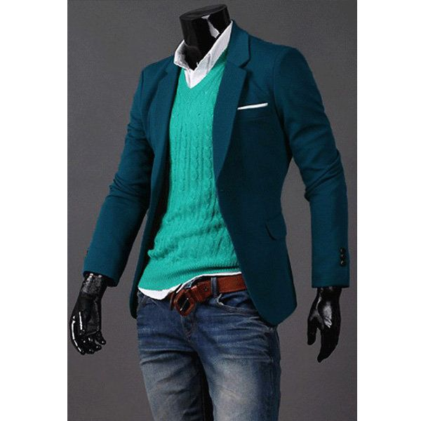 Men's Fashion Slim Fit Two Buttons Coats Suit 3 Color - US$29.39 sold out