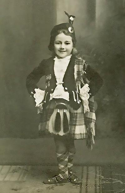 Wee Highland Dancer ~ Mima Cooper.  Late 1930s in East Wemyss, Fife, Scotland