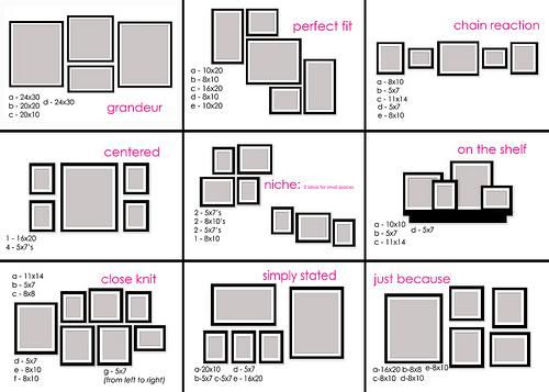 Otras 18 ideas: Cómo distribuir marcos en la pared