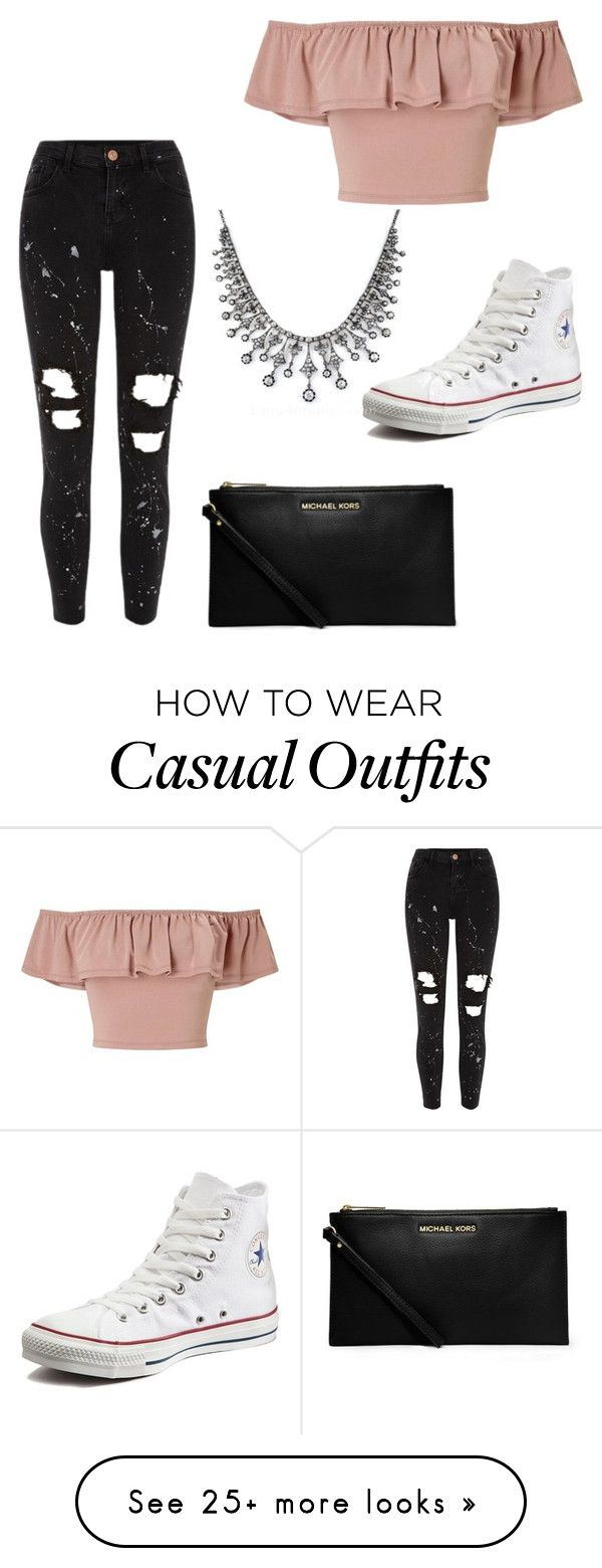 """Casual and fancy shopping day"" by bvkwithrow2 on Polyvore featuring River Island, Miss Selfridge, MICHAEL Michael Kors and Converse"